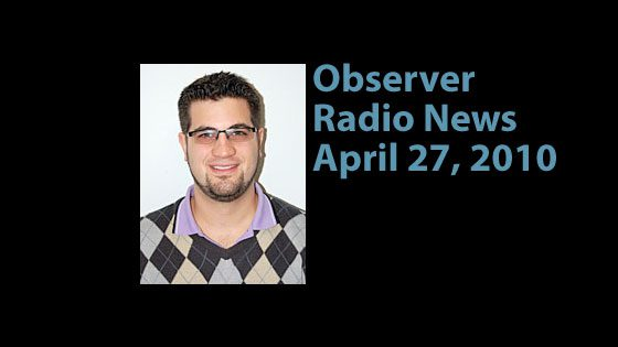 Observer Radio News for April 27